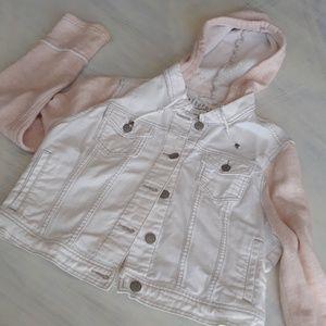 Aeropostale XL white distressed denim jacket